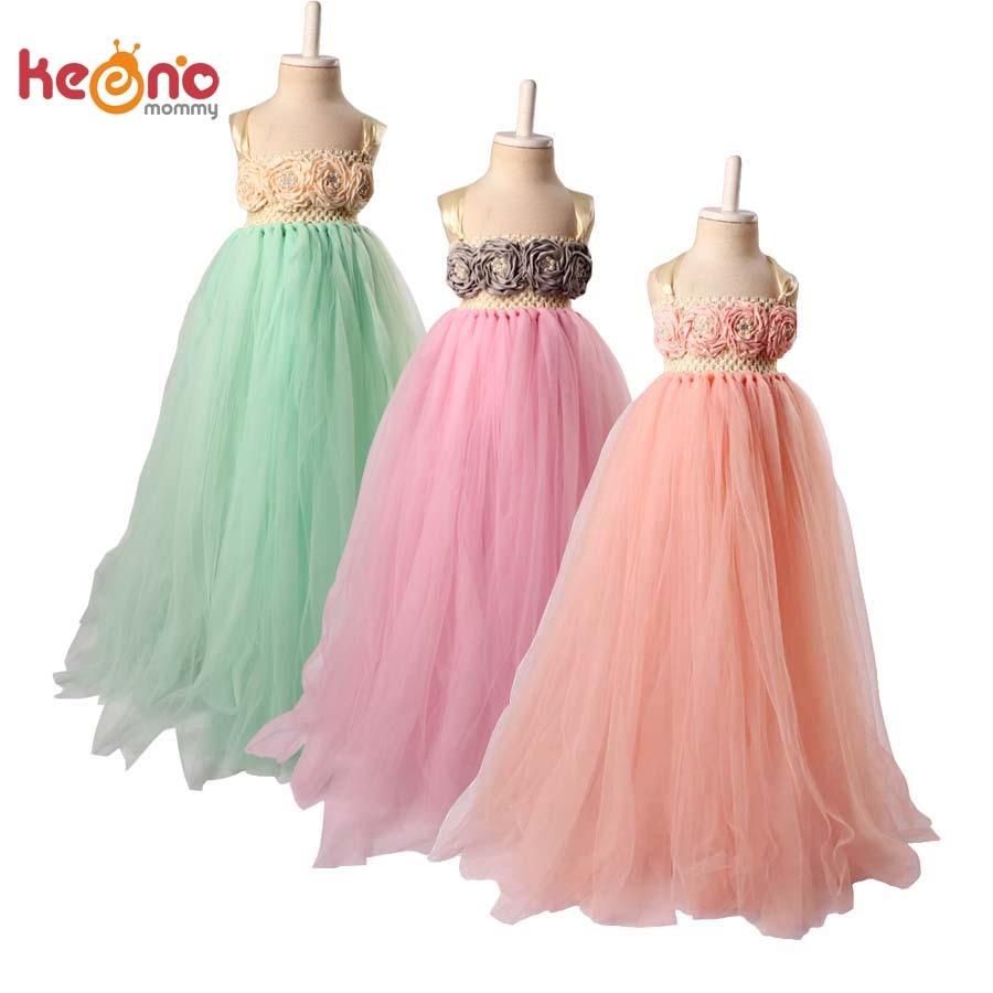 Keenomommy ivory peach flower girls dress birthday party for Princess peach wedding dress