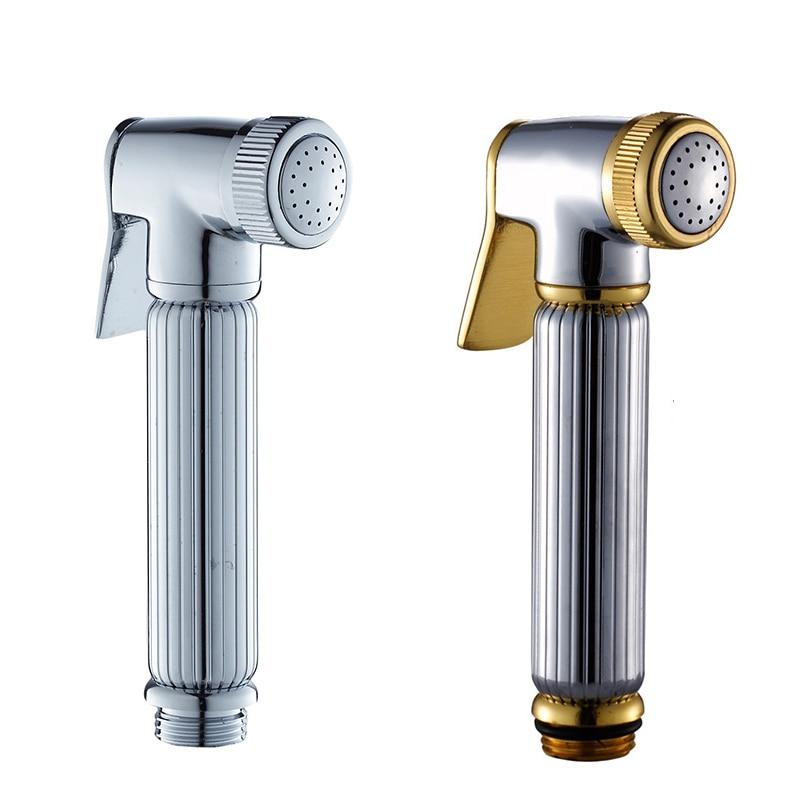 Chrome /Gold Brass Bidet Hand Sprayer Head Toilet Shower Head Bidet ...