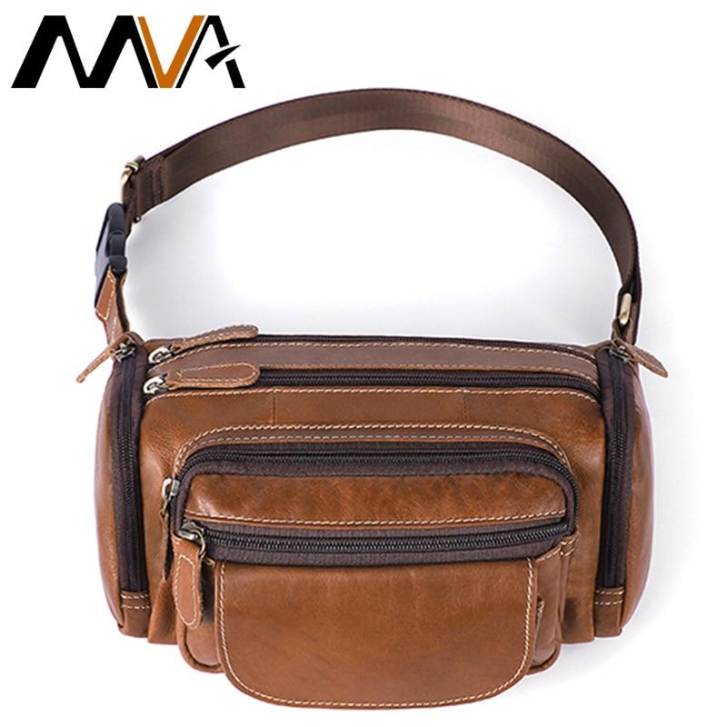 MVA Men's Belt Bags Men Waist Bags Purse Men's Belt Leather Waist Bag For Men Belt Bag Men Small Man Belt Pouch Waist Pack