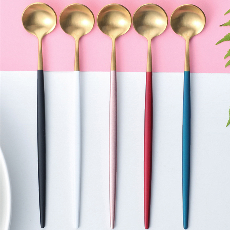 Kubac 6pcs Stainless Steel Ice Spoon