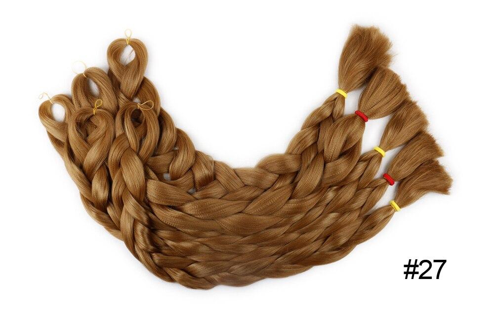 enorme trança extensões de cabelo amarelo sintético