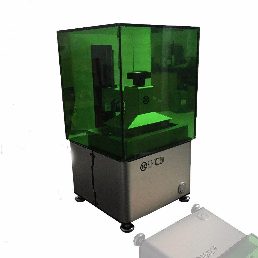 Affortable LCD photopolymérisation Haute qualité 3d imprimante. SLA 3D imprimante pour dents bijoux de résine photosensible 1 année garantie