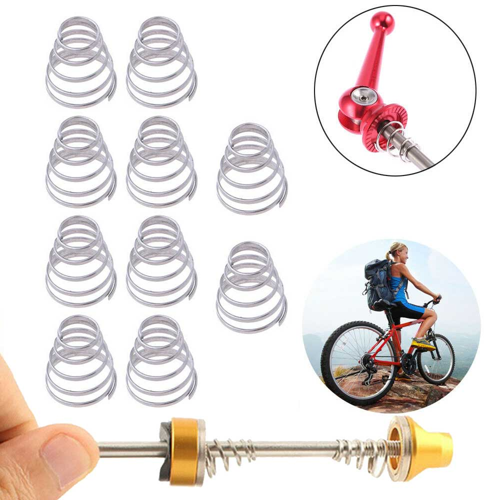 10pcs Bike Quick Release Spring Rear Wheel Skewer Hubs Replacement Parts Component For Mountain Bike Bicycle Front Rear Parts