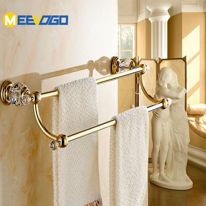 meevogo fashion gold brass bath towel racks bathroom