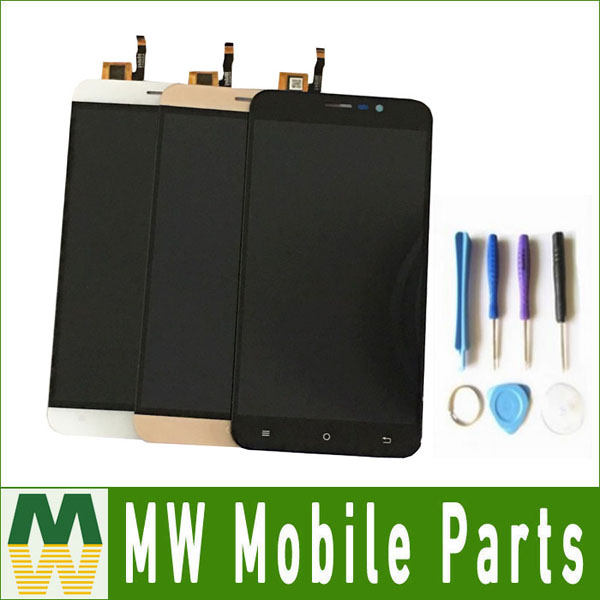 1PC / Lot 5.5inch For Cubot Note S LCD Display + Touch Screen Assembly Replacement Part Black White Gold Color with tools