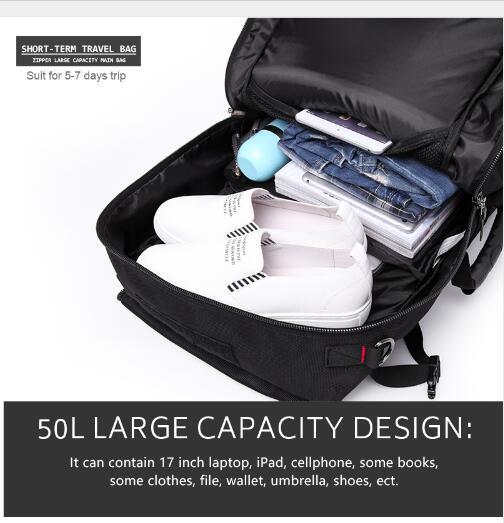 40L 50L voyage sac à dos hommes militaire Oxford voyage sac à dos Multi fonction 17 pouces ordinateur portable Camouflage voyage sac à dos pour hommes - 4