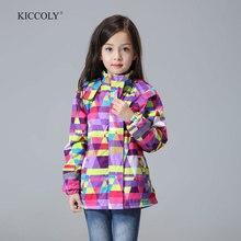 Étanche Coupe-Vent Enfants Survêtement Bébé Filles Vestes Enfants Enfants Manteau Chaud Polaire Pour 3-12 T Hiver Automne printemps