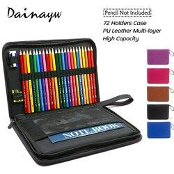 Estuche de lápices escolares multicapa de cuero PU de alta calidad con 72 portalápices de gran capacidad bolsillo de cepillo para artículos de arte