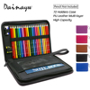 High Quality 72 Holder PU Leather Multi Layer School Pencils Case Large Capacity Pencil Bag