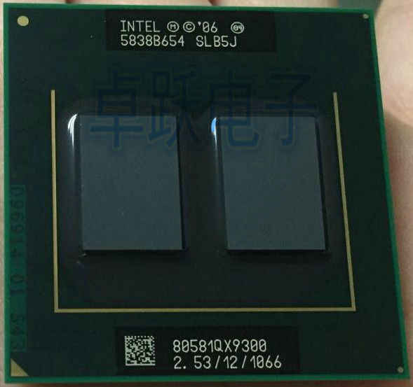 Original Intel CPU Processor QX9300 SLB5J 2.53 GHz 1066MHz FSB Socket P scrattered pieces For PM45 T9600 q9100