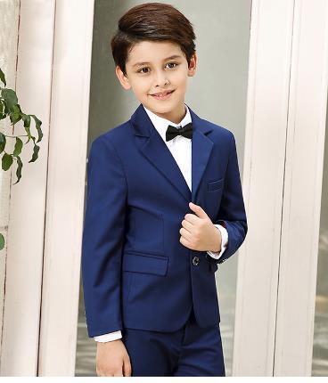 2018 Hohe Qualität Formale Hochzeit Anzüge Für Jungen Kinder Kostüm Leistung Kleidung Jungen Anzüge Wash Kleid Schwarz/blau/rot üPpiges Design