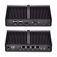 Fanless Mini PC 4 Gigabit Lan Ethernet NIC Core I3 Security AES NI Qotom Router Pfsense