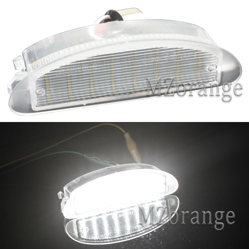MZORANGE 1Pair License Plate Light Lamps For Renault Clio MK2 1998-2005 For Twingo I (1993-2007) 12V White LED Number Plate Lamp