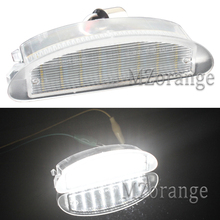 MZORANGE 1Pair License Plate Light Lamps for Renault Clio MK2 1998-2005 for Twingo I (1993-2007) 12V White LED Number Plate Lamp цена в Москве и Питере