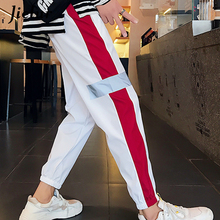 Jielur Summer Vintage Women's Pants White Black Female Harem Pants Vogue Korean Leisure Sweatpants Hip Hop Trousers Femme M-2XL