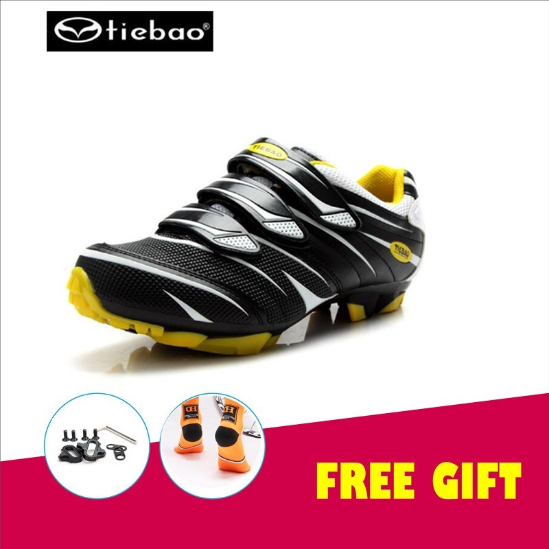(add clips)TIEBAO cycling shoes mountain bike zapatillas deportivas hombre mtb sneakers superstar chaussure velo route zapatilla tiebao cycling shoes socks zapatillas deportivas mujer sneakers women off road athletic bike shoes chaussure velo de route