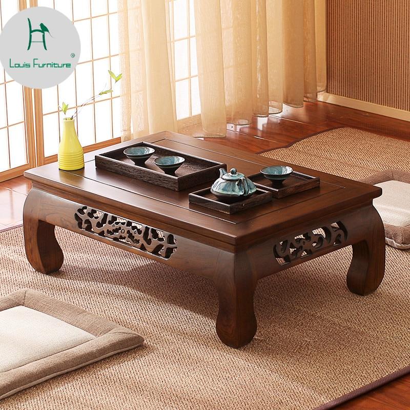 Louis Fashion Japanese Style Tatami Table Floating Window Old Elm