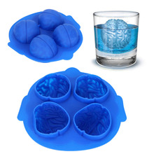 Brain Ice 3D Mold Cube Halloween Gift Box Cream Silicone