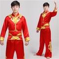 Китайский Барабан одежда народный танец костюмы мужской вентилятор yangko танец современный танец специальное сценическое костюмы