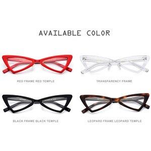 Image 5 - Acétate lunettes cadre femmes marque concepteur 2019 nouveau Transparent clair lunettes femme chat oeil lunettes lunettes pour femme