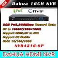 8-канальный Dahua NVR 16 каналов 32CH 1U Сетевой Видеорегистратор NVR4208-8P NVR4216-8P NVR4232-8P 1 HDMI 1 VGA 8 порта PoE