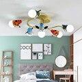 Детские светодиодные потолочные светильники для детской комнаты  Мультяшные потолочные лампы  домашний декор  освещение для мальчиков  мил...