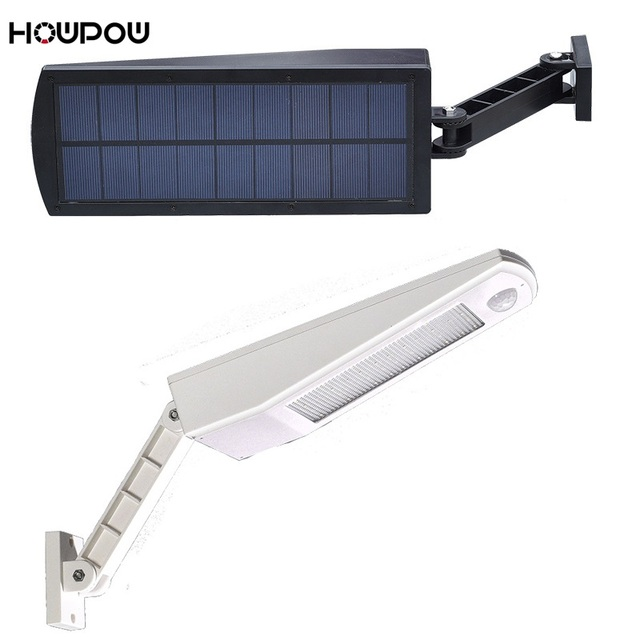 HOWPOW 900lm Led Solar Light Outdoor Waterproof Lighting For Garden Wall 48 leds Four Modes Rotable Pole Solar Lamp Newest