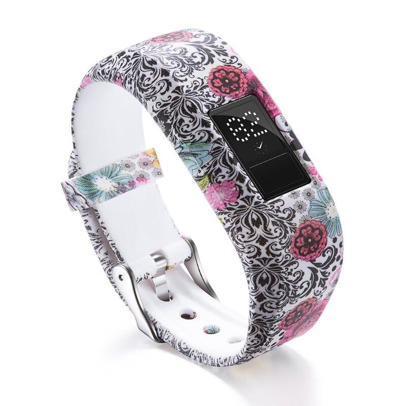 Купить с кэшбэком OOTDTY Soft Silicone Watch Band Strap For Garmin VivoFit JR/JR2 Junior Activity Tracker