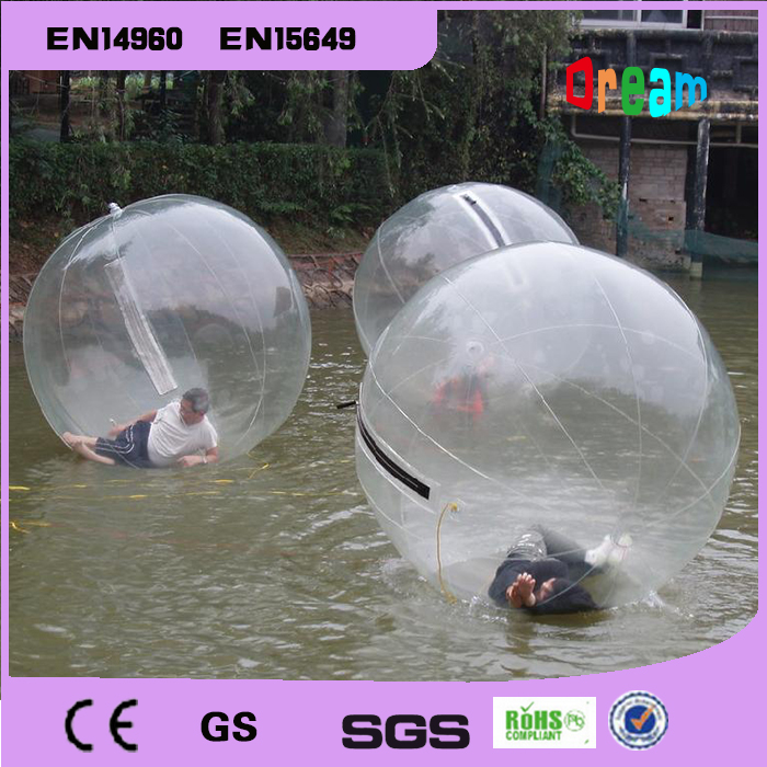 Free shipping Inflatable water walking ball human PVC ball inflatable human hamster zorb ball water ball