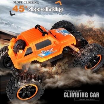 kid gift 2.4G 30cm 4WD bigfoot tipping bucket 45 degree climb off road remote control RC stunt car model Super large RC car