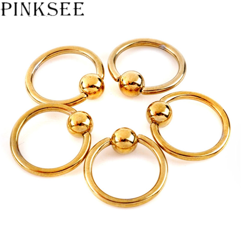 Pinksee 5 Pcs Fashion Sexy Stainless Steel Stud Rings -8854