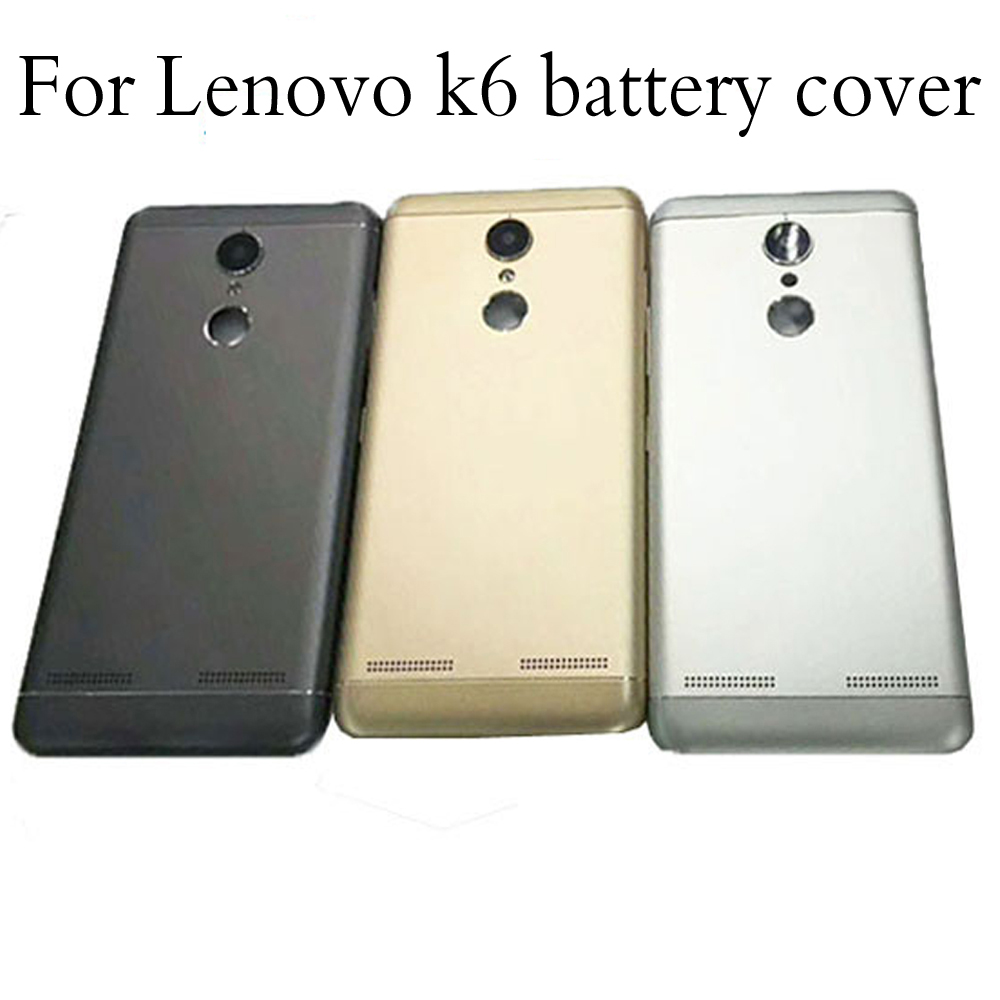 Housing for Lenovo K6 K33a42 Battery Back Cover Mobile Phone Replacement Parts Case Without Power Volume Buttons