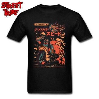 Funky ropa hombres camiseta Ramen jinete Tops camisetas de algodón Moto Racer Cool T camisa tipo loco de dibujos animados camisetas Japón estilo diseñador