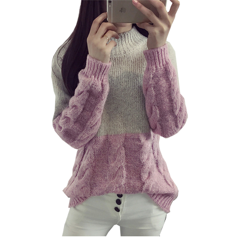 Women's Sweater Clothing Pullovers Loose Knit Winter Woman New And MMY16852 Blanche Vestidos thumbnail