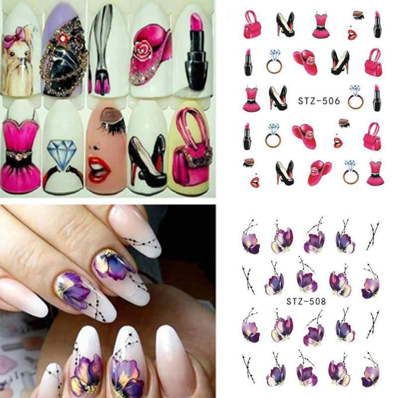 Cat Nail Sticker Flower Stickers for Nails Lavender Purple Blooming Stickers on Nails Flower Nail Stickers Decals