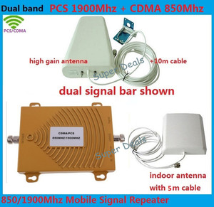 Dual Band 2G UMTS HSPA 4G LTE 1900 gsm Repeater cellular signal booster 850 1900 Mobile Phone Signal amplifiers + 4g antenna