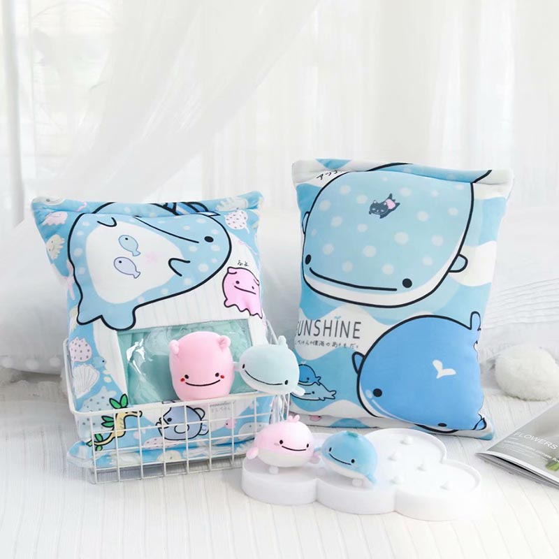 4pcs a bag of <font><b>whale</b></font> <font><b>plush</b></font> toy cute <font><b>blue</b></font> <font><b>whale</b></font> <font><b>plush</b></font> pillow creative funny kids toys birthday gift for children image