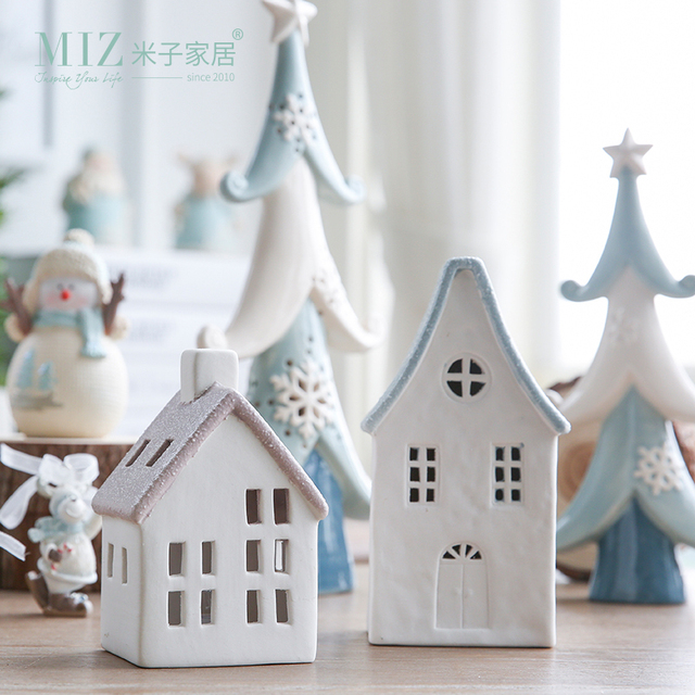 Miz 1 Piece Christmas Decoration Accessories Little House With Light