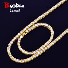 "1 Row 5mm Tennis Necklace & Bracelet Set Gold Silver Rhinestone Chain Choker Men's Hip hop Street Rock Jewelry 16"" 18""(China)"