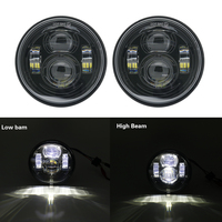 2PCS 4.65 inch black/chrome Motorcycle Headlight For Harley LED Daymaker LED Lamps for Fat Bob Led headlight