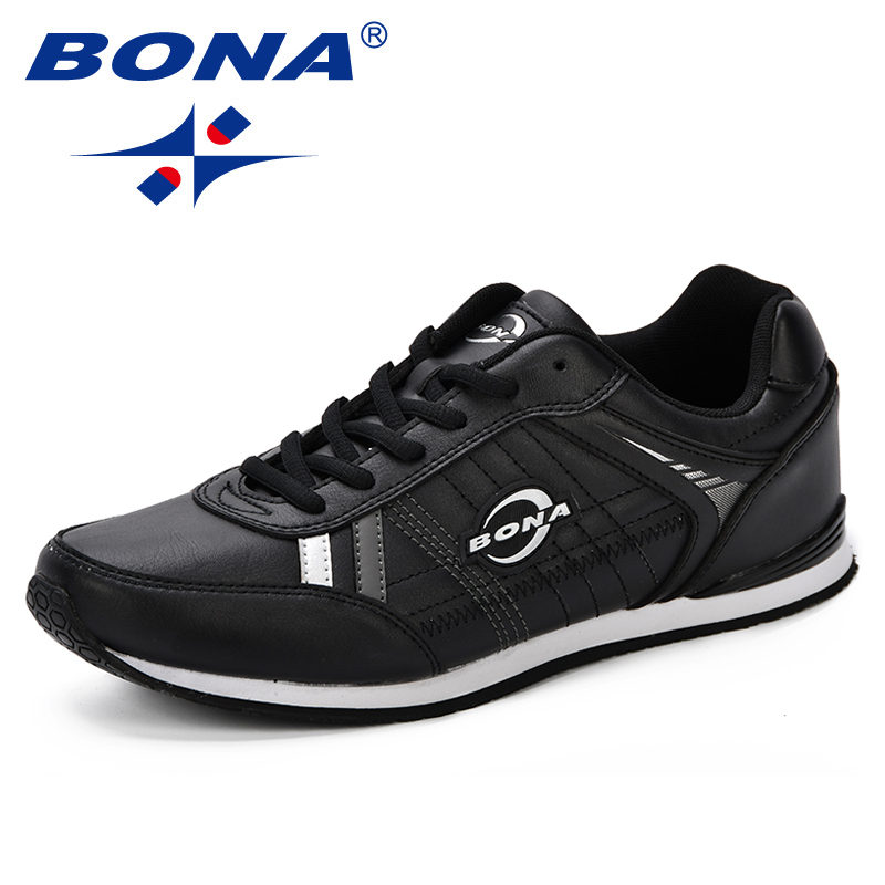 BONA Autumn Leather Sports Shoes Youth Men Trendy Comfortable Running Shoes Korean Version Mens Outdoor Jogging Sneakers ShoesBONA Autumn Leather Sports Shoes Youth Men Trendy Comfortable Running Shoes Korean Version Mens Outdoor Jogging Sneakers Shoes