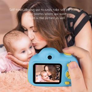 Image 5 - 子供カメラミニカートンデジタル一眼レフスマートカメラデュアルレンズ 2.0 インチ 12MP 落下防止のためのおもちゃカメラ女の子クリスマスギフト