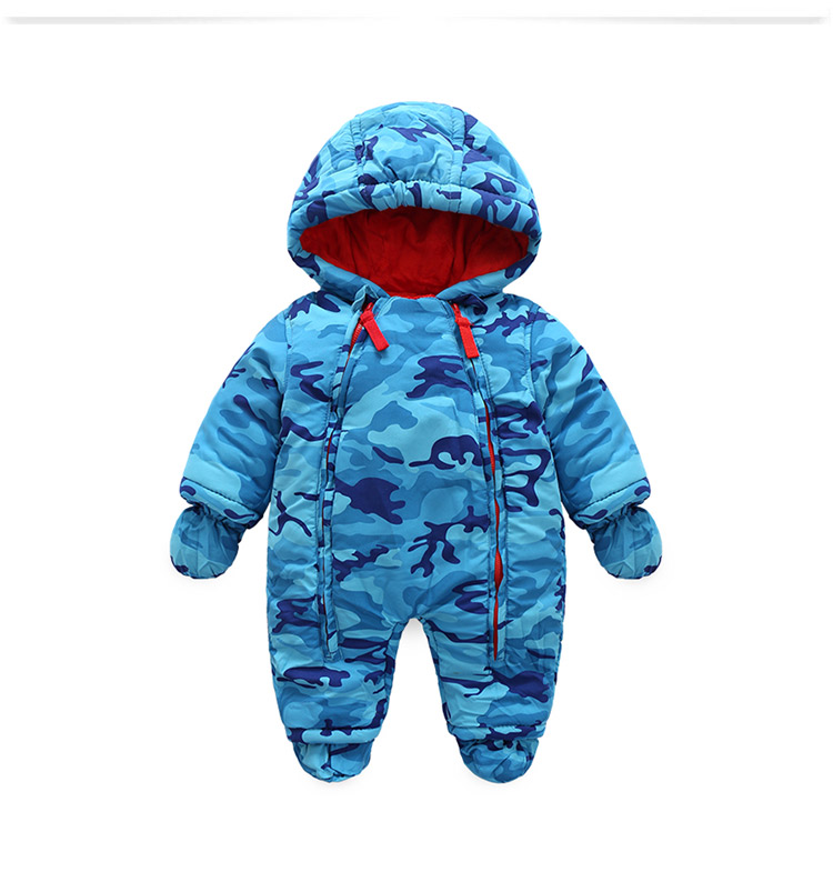 2017 new fashion Camo clothing for kids snow wear , autumn - Winter costume baby boys overalls for infants snow wear for boy