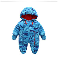 2017 New Fashion Camo Clothing For Kids Snow Wear Autumn Winter Costume Baby Boys Overalls For