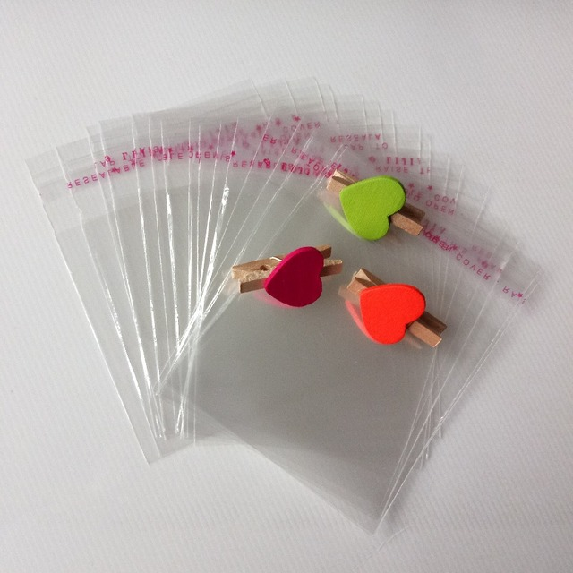 500pcs clear self sealing plastic gift bag for jewelry transparent opp travel storage bag gift jewelry