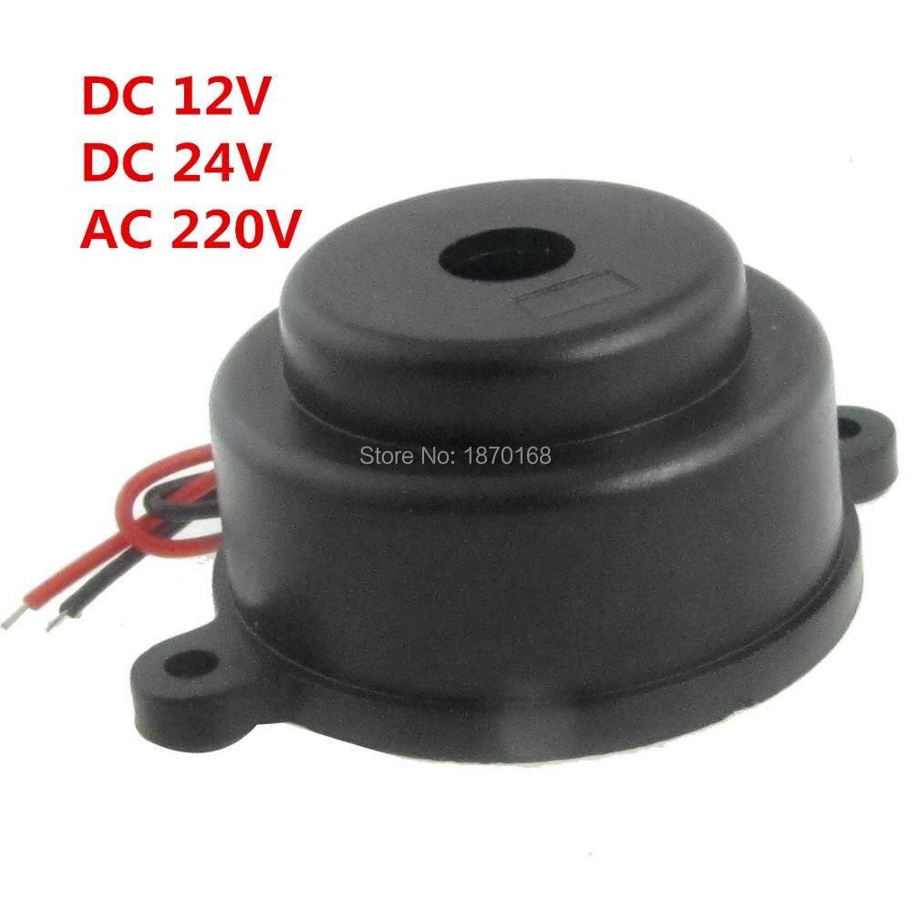 2 Pcs/Lots Black Piezo Electronic Alarm Discontinuity Sound Buzzer Beeper DC3-24V AC220V