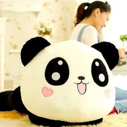 1pcs 45cm Cartoon Papa Panda Doll Plush Pillow Toys Plush Kawaii Toys Anime Pillow Doll Valentine's Day Gift Kids Gift 1pc 12cm kawaii lover couple valentine s day gift novelty mascot doll toy plush papa bear panda pendant for mobile phone charm