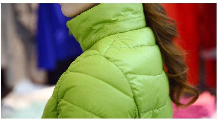 Женское зимнее пальто Новая мода 90% белый утиный пух куртка Сверхлегкий портативный тонкий пуховик женские зимние куртки парки