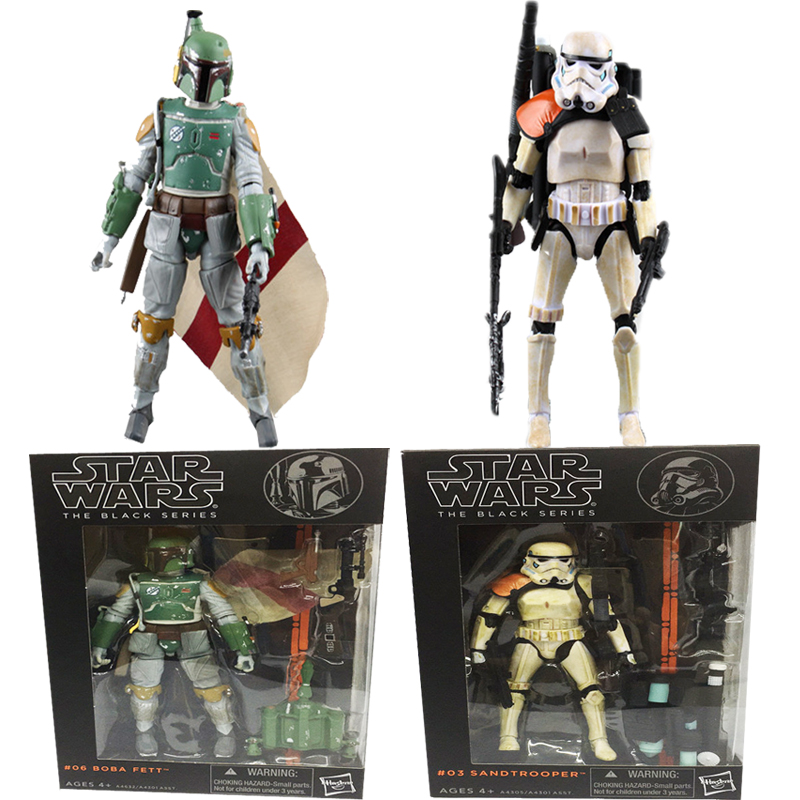 New Star Wars Figure The Force Awakens The Black Series 06 Boba Fett 03 Sandtrooper PVC Action Figures Christmas Gift Toys play arts star wars the force awakens boba fett figure action figures gift toy collectibles model doll 204