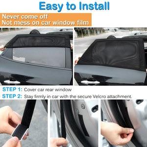 Image 5 - 2Pcs S/M/L/XL Size Car Sun Shade UV Protection Car Window Sunshade Side Curtain Mesh Sun Visor Summer Protection Window Cover